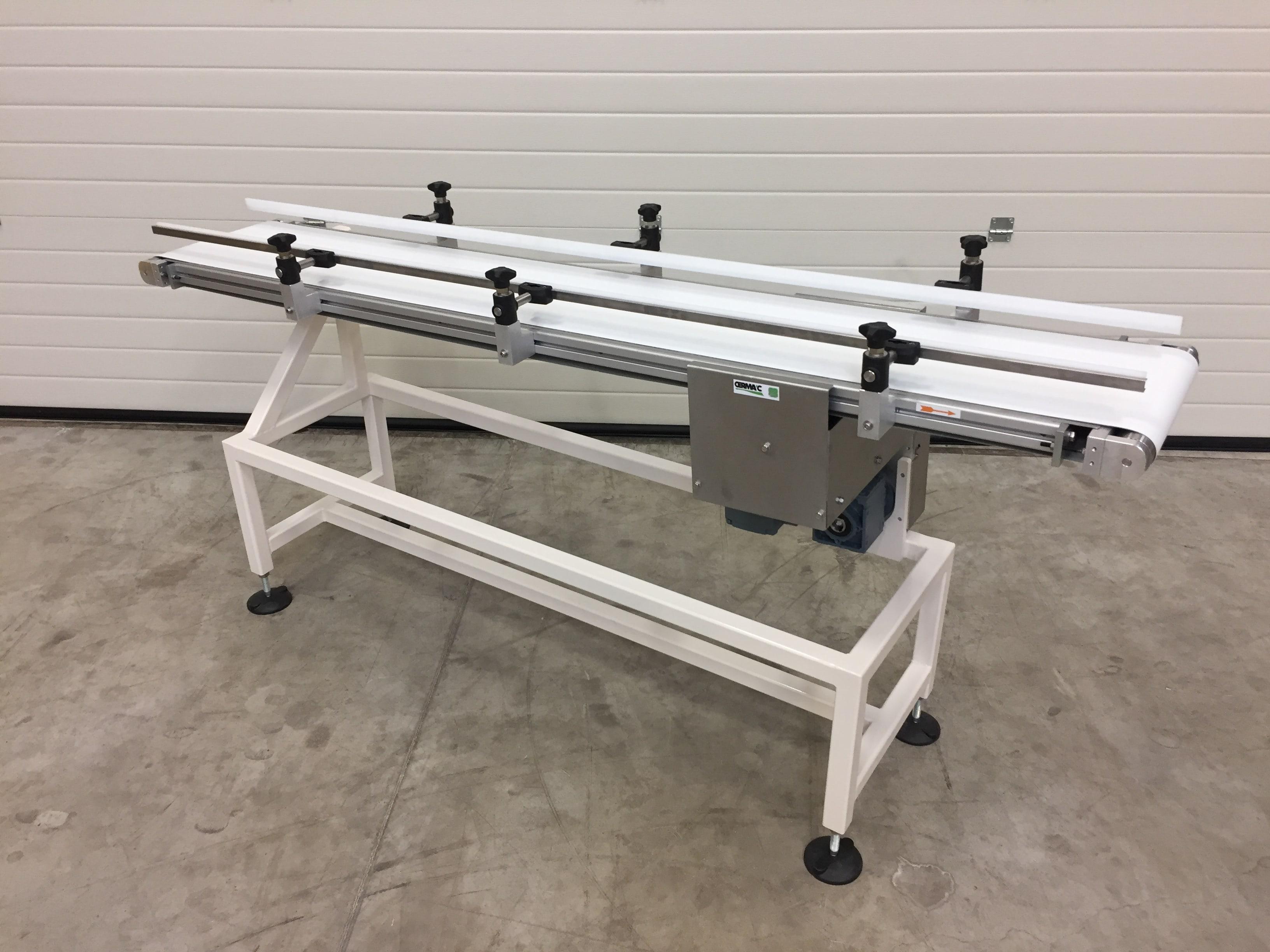 Cerma'c - Réalisation d'un ensemble de convoyeurs en structure aluminium